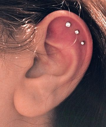 23 Delicate and Oh-So-Pretty Ear Piercing Ideas Tattoos