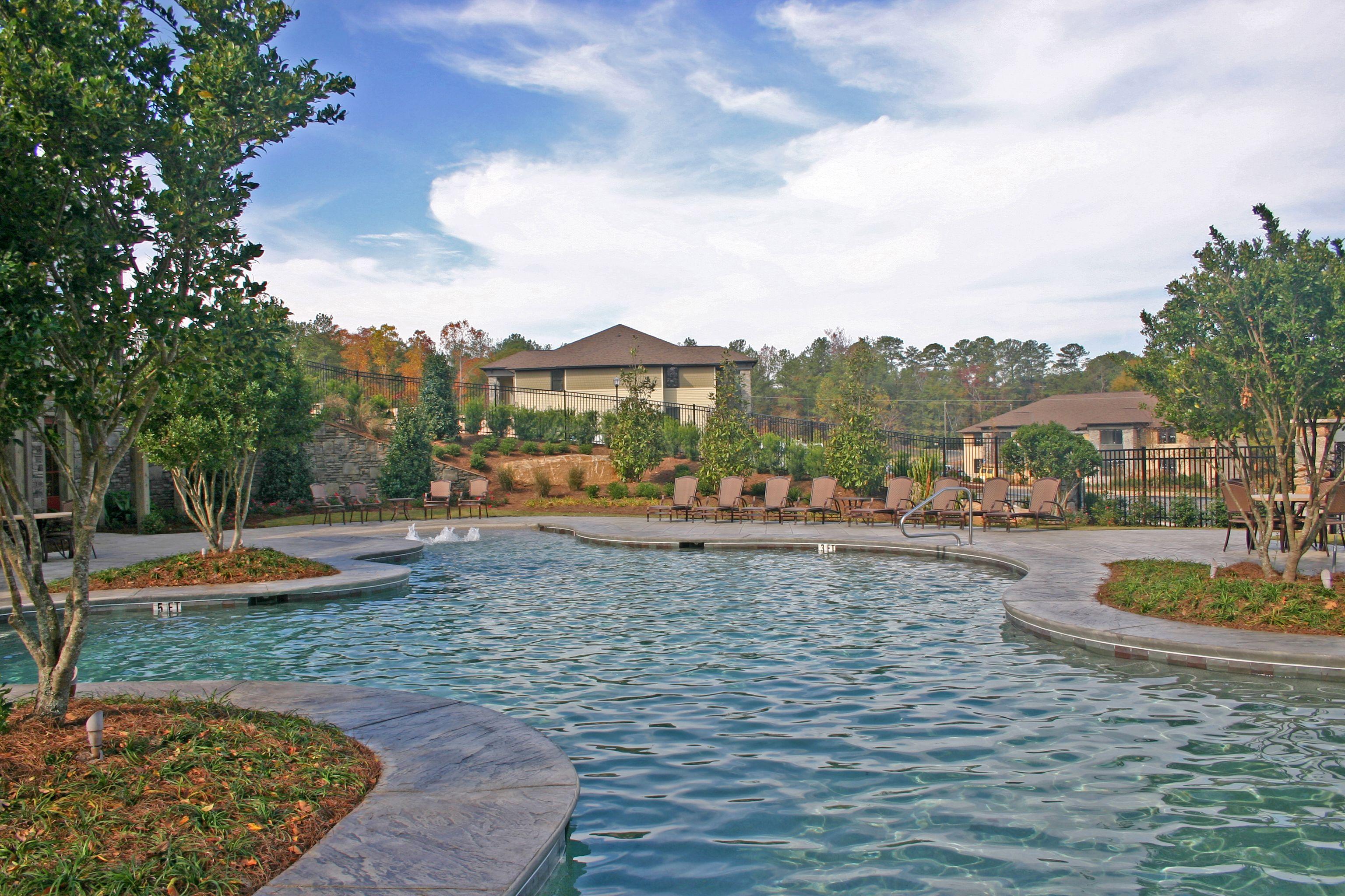 Beautiful Salt Water Pool at Grove Park Apartments in