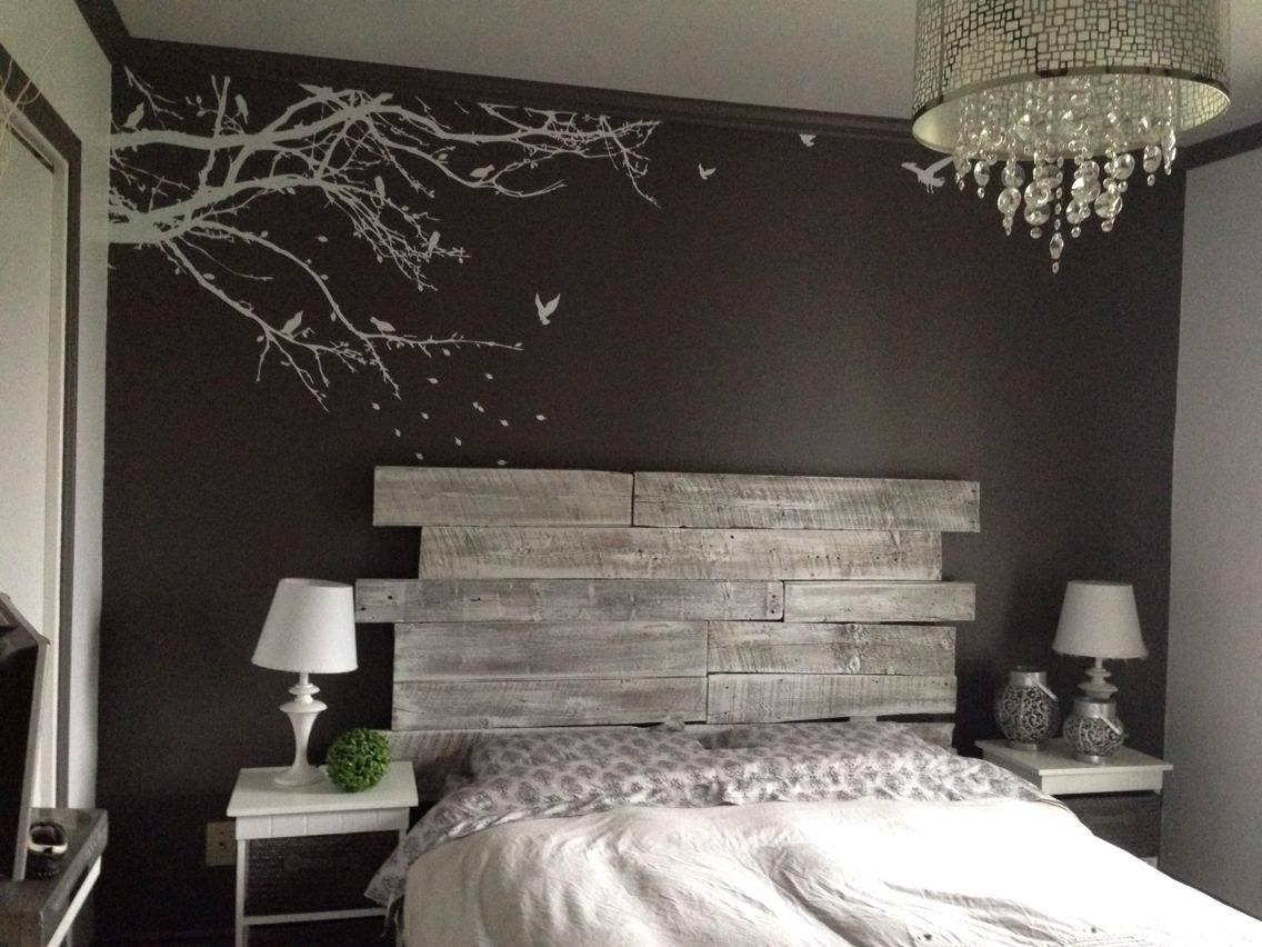 diy bois t te de lit en bois r alisation claudie. Black Bedroom Furniture Sets. Home Design Ideas