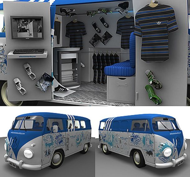 59cd653ae pop up store mobile adidas | Business Spaces: Vintage Camper Shops ...