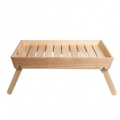 Plateau de petit d jeuner au lit bois de caoutchouc deco pinterest plateau de petit for Table de petit dejeuner au lit