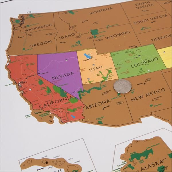Scratch Off USA Map With National Parks Travel Tracker Map Park - Us map travel tracker