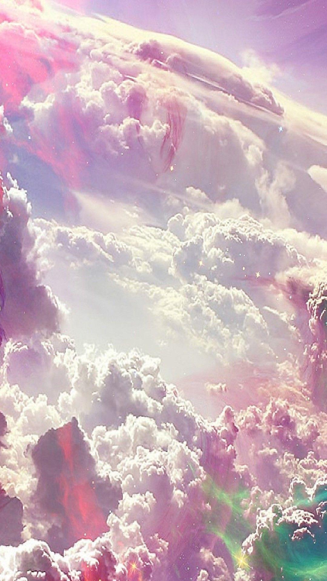 Wallpapers Cloud artwork, Colorful clouds, Iphone wallpaper