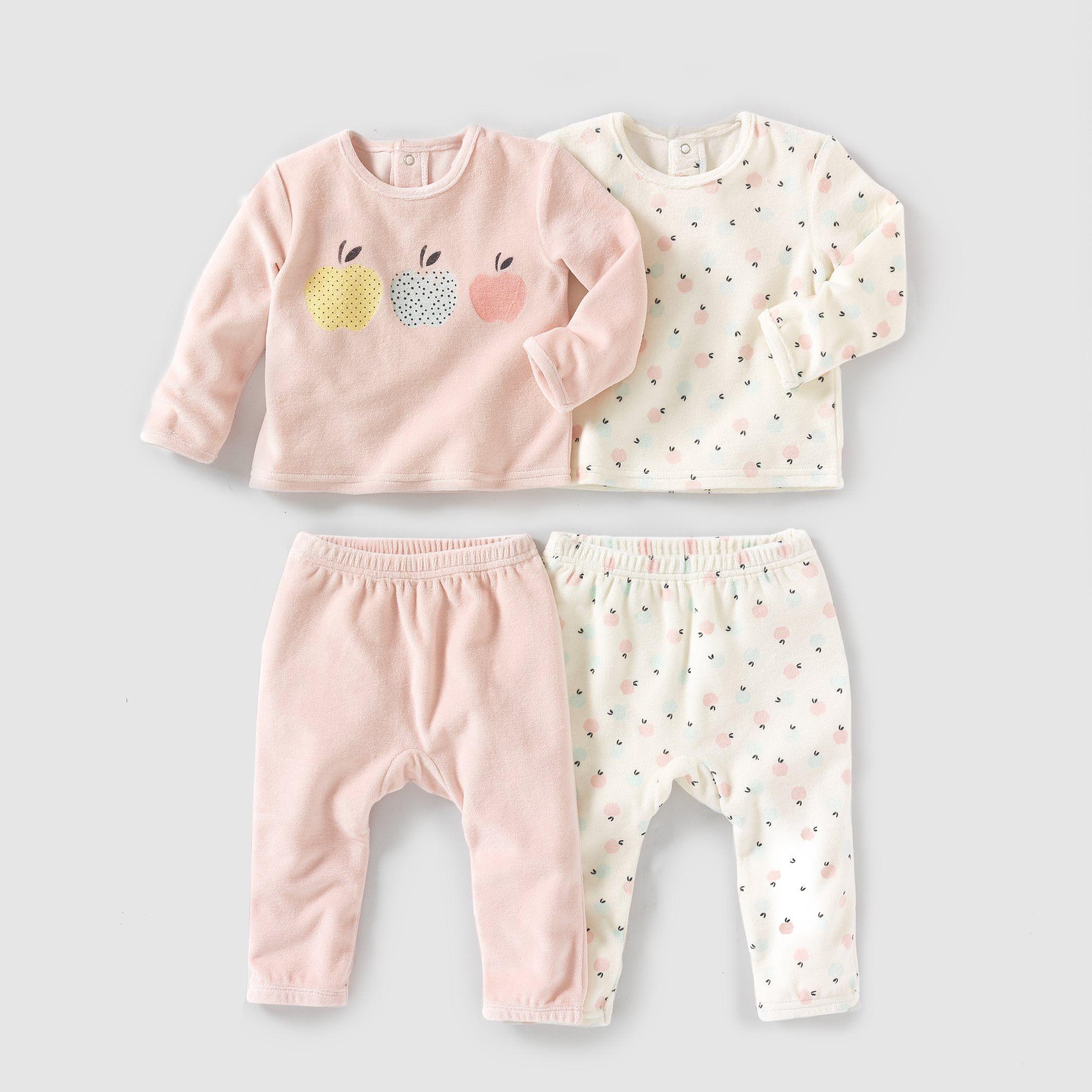 cfd77de0e74d9 Pyjama 2 pièces velours (lot de 2) 0 mois-3 ans R Mini