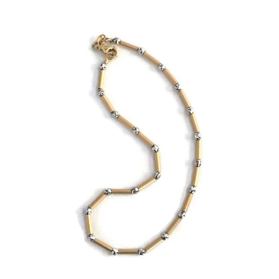 Gold Fußkettchen Gold Knöchel Armband 14k Gold von VivaTerraVintage