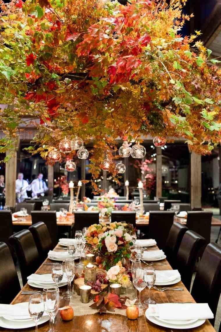 decoration table mariage automne