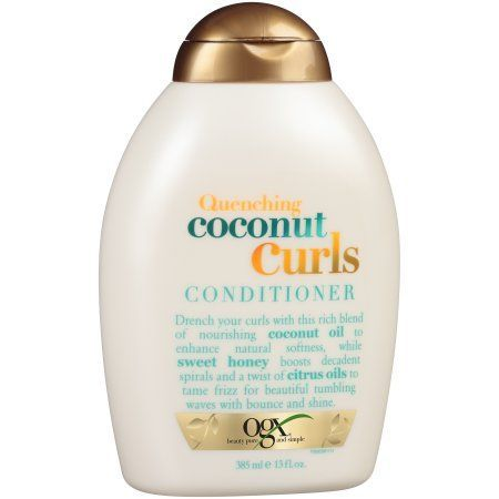 Ogx Quenching Coconut Curls Conditioner 13 Fl Oz Squeeze Bottle Walmart Com Curl Conditioner Curl Shampoo Shampoo For Curly Hair