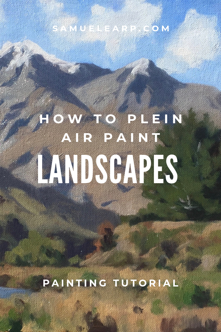 Have you ever tried painting outdoors? Painting outside is known as painting 'en plein air', a French term for painting outdoors. Painting outdoors is a brilliant way to rapidly improve your painting skills as well as your understanding of color and tone. In this painting tutorial I show you how to paint a landscape outdoors en plein air. I show you the colors and brushes you need, then take you step by step through the painting process. #art #pleinair #howto #howpaint #landscapes #fineart