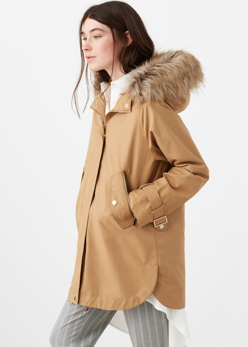 Faux fur appliqué quilted parka - Woman | Parka coat, Fur and Woman : quilted parkas - Adamdwight.com