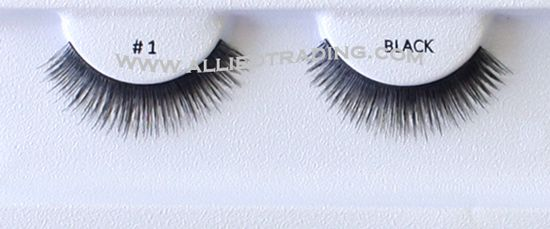 2ed187e315f Distributed by eyelash supply Allied Trading, Los Angeles, CA 90057, United  States. False strip eyelashes. # BE1BK, 100 pack in bulk.