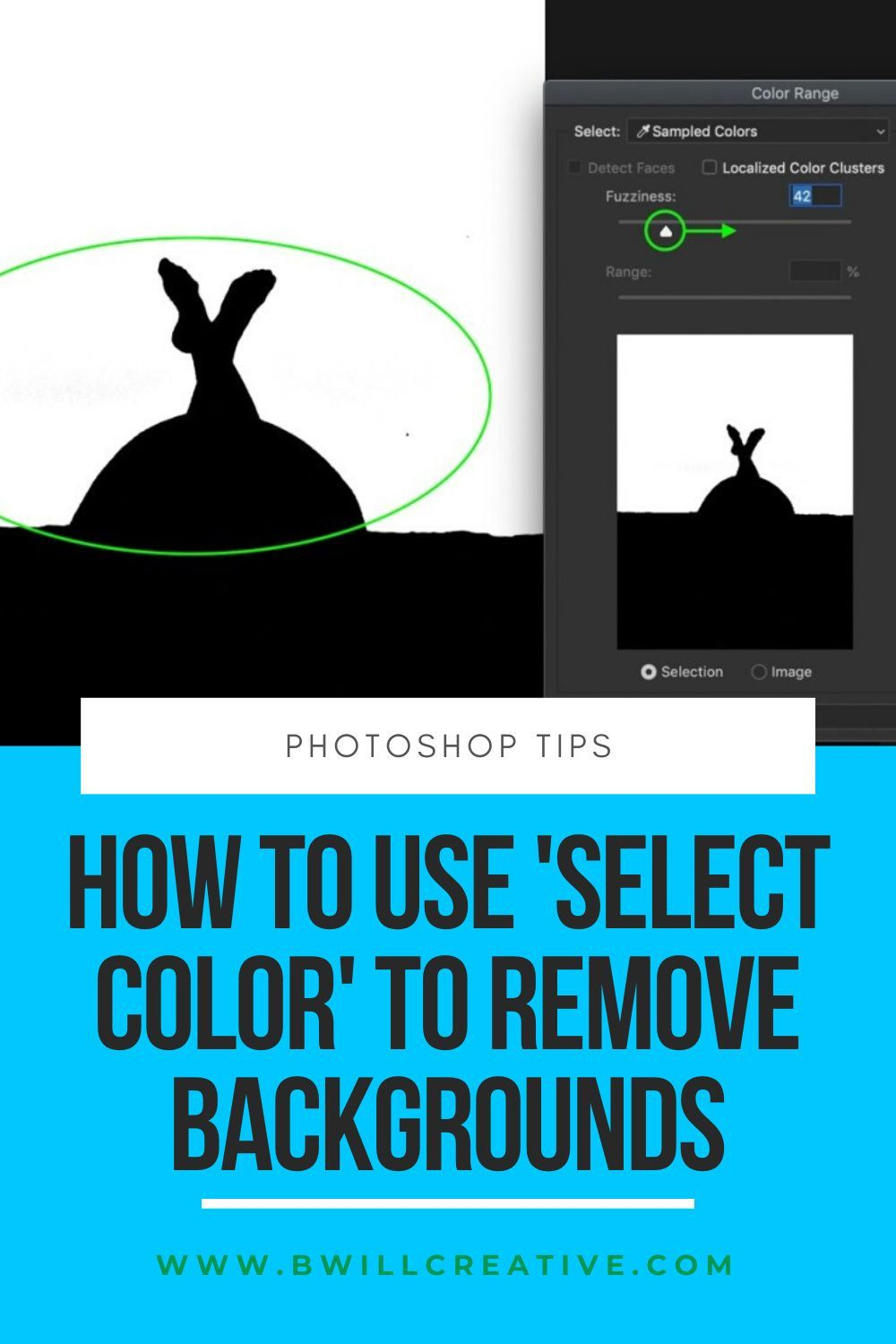 How To Use Select Color To Remove Backgrounds In