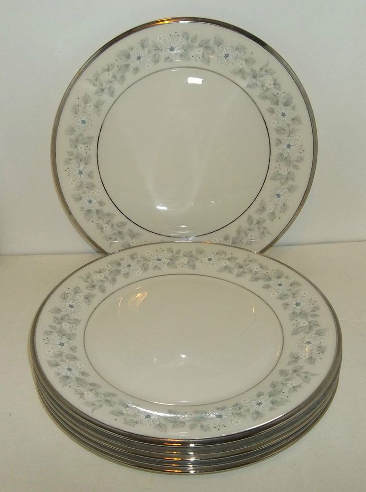 Lenox Windsong Dinner Plates Set Of 6 Fine China Made In Usa Euc