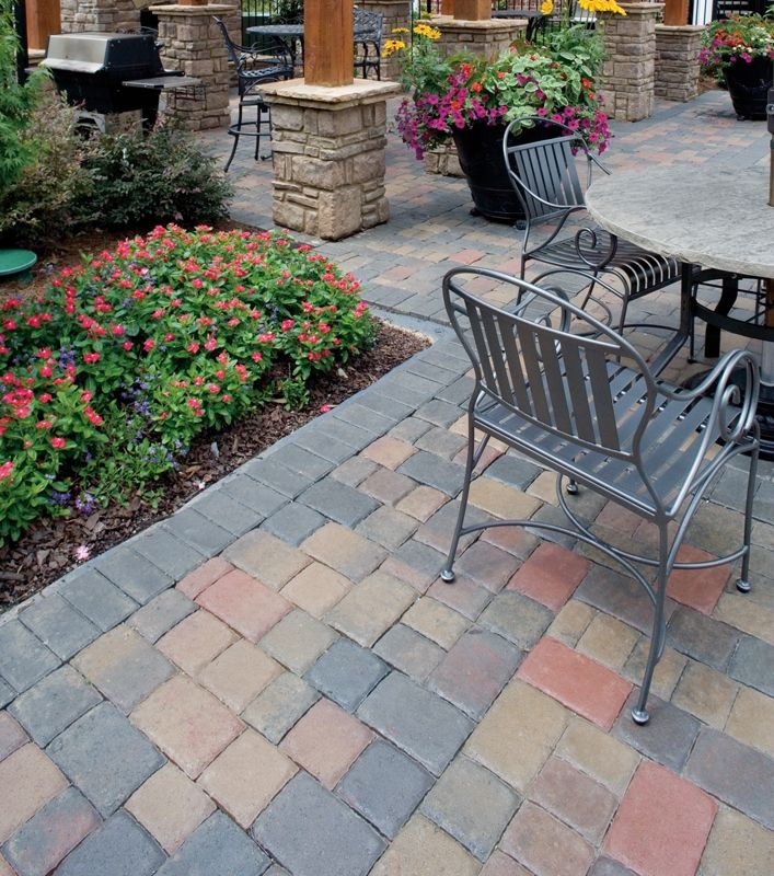 Another #LasVegas Patio Success! We Used The Plaza Old Town Blend For That  Taste Of The #desert Sunset. | #patio #landscaping #pavers #hardscaping  #home ...