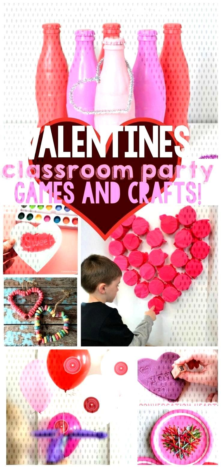 Valentines games and crafts for Classroom parties ,