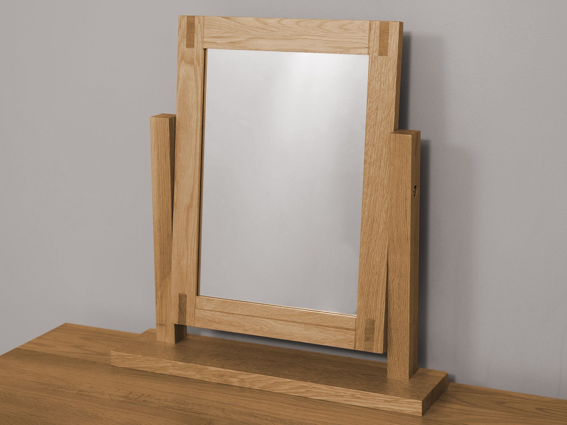 Alto Natural Solid Oak Dressing Table Mirror Mirrored