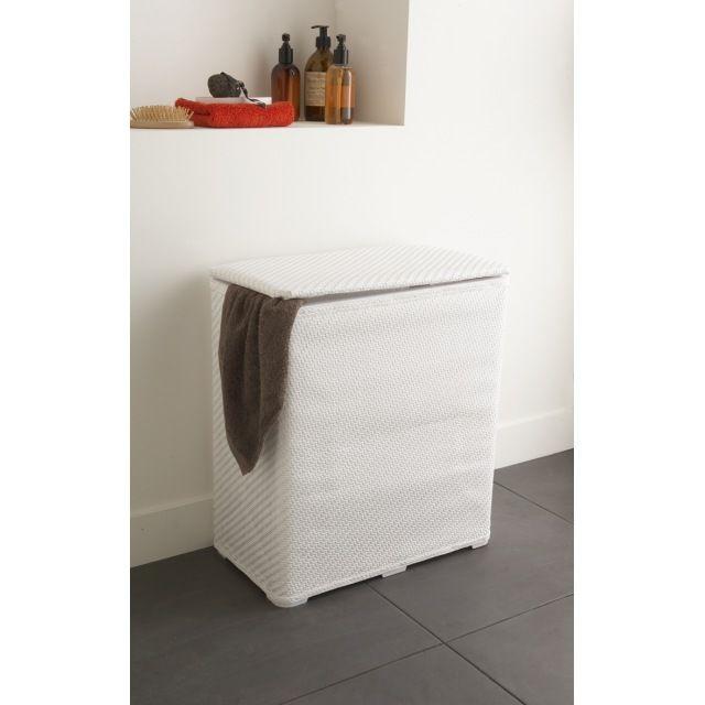 Panier à linge plastique blanc Bricolage - meuble salle de bain panier a linge