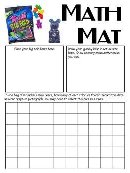 Math Mat Review Activity Big Bold Gummy Bears Trolli Math Mats Math Lesson Plans Daily Five Math