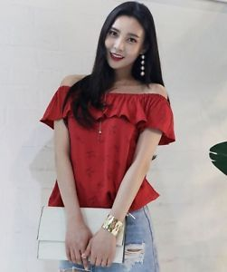 aa461d3418b38 Latest Summer fashion Lady Girl Top Cute Casual Style Women Off-Shoulder  Blouse