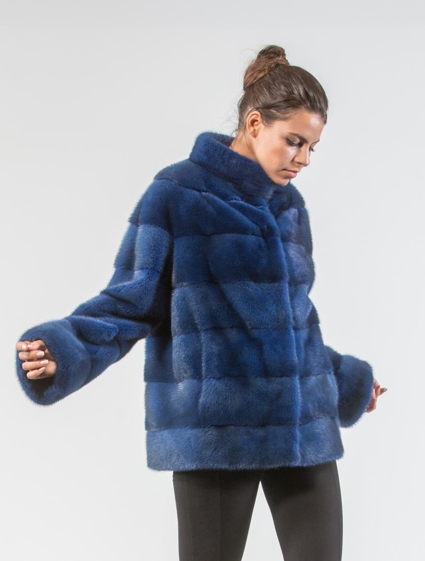 8539beabe637 Ice Blue Mink Fur Coat in 2019