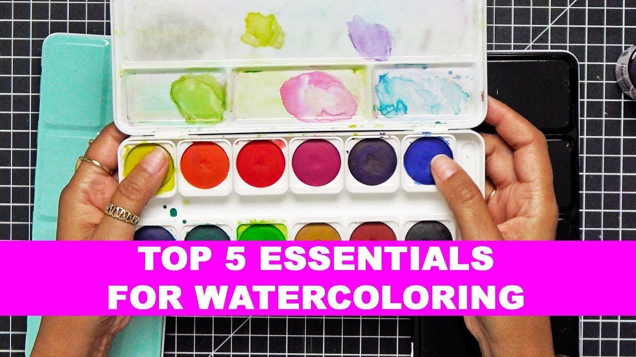Top 5 Essentials For Watercoloring Watercolor Paint Set