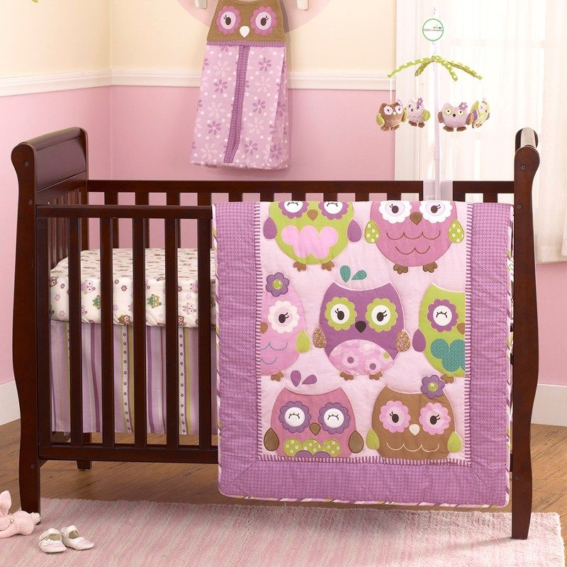 Best Owl Wonderland 4Pc Bedding Set 390118423 Baby Girl 400 x 300