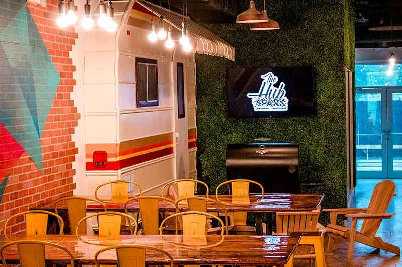 The Hub Spark Fort Lauderdale The Cool New Co Working Space And Lounge In The Mass District Fort Lauderdale Real Estate Fort Lauderdale Outdoor Patio Space