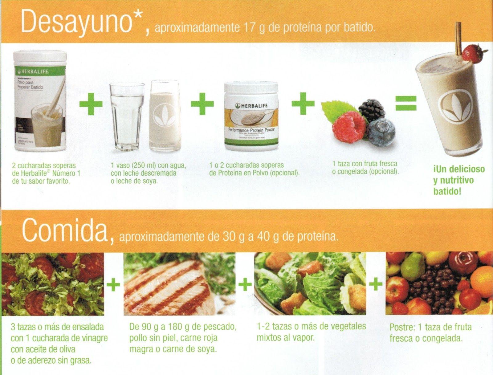 Plan de bajar de peso herbalife