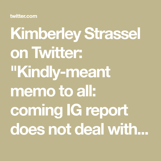 Kimberley Strassel on | Judicial Watch & More | Twitter