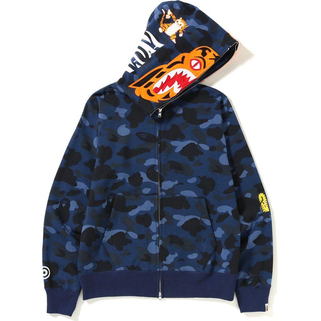 Men Pullover Hood Cute Flying Tiger Zip Hoodies Hooded Casual Jackets Coats