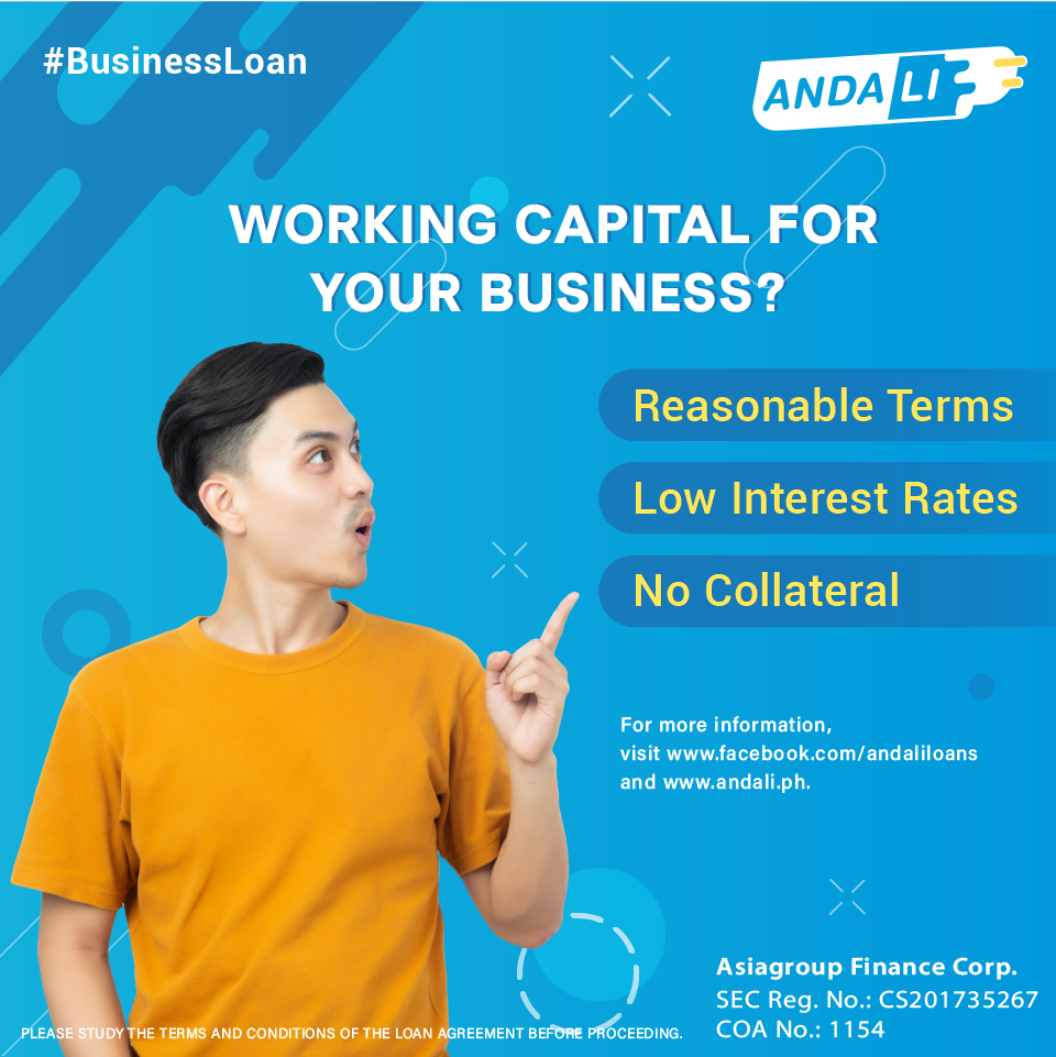 For shortterm business loans, apply at ANDALI! It's easy