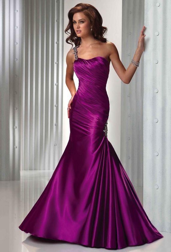 Simple Purple Wedding Dresses