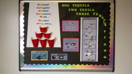 Alcohol Awareness Ra Bulletin Board One Tequila Two