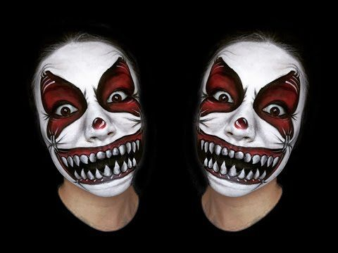 SCARY CLOWN MAKEUP TUTORIAL - YouTube