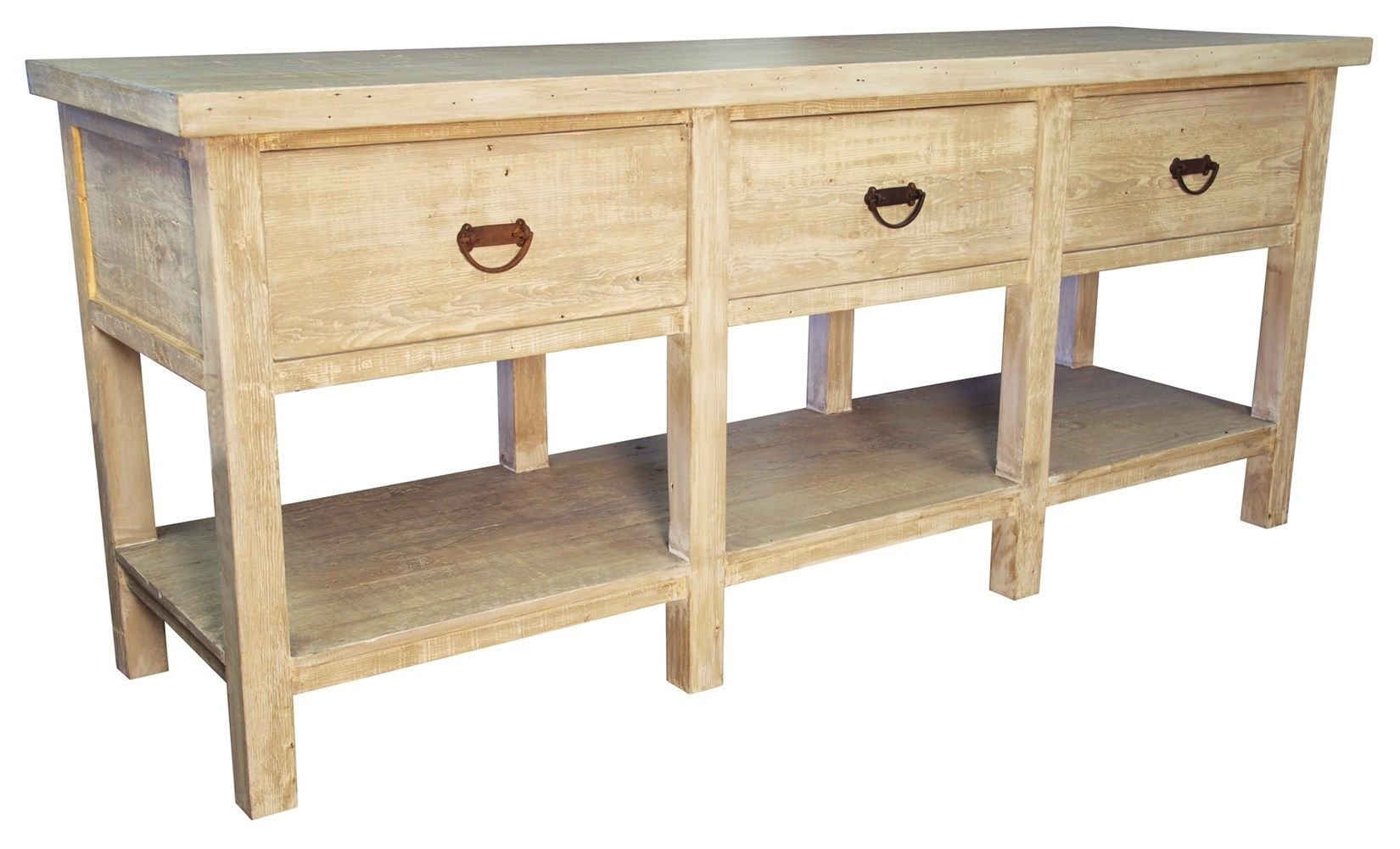 :: CFC :: OW092-S Reclaimed Lumber Console Table W 84 D 20 H 36 #7Foot