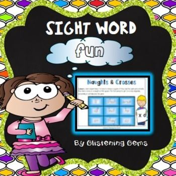 Sight Words: Sight Words Game packet consists of 10 naughts and crosses games.  Each sight words game is in level of ability. Game 1 being the easiest level and game 10 being the hardest. The sight words games are available in color or black and white.