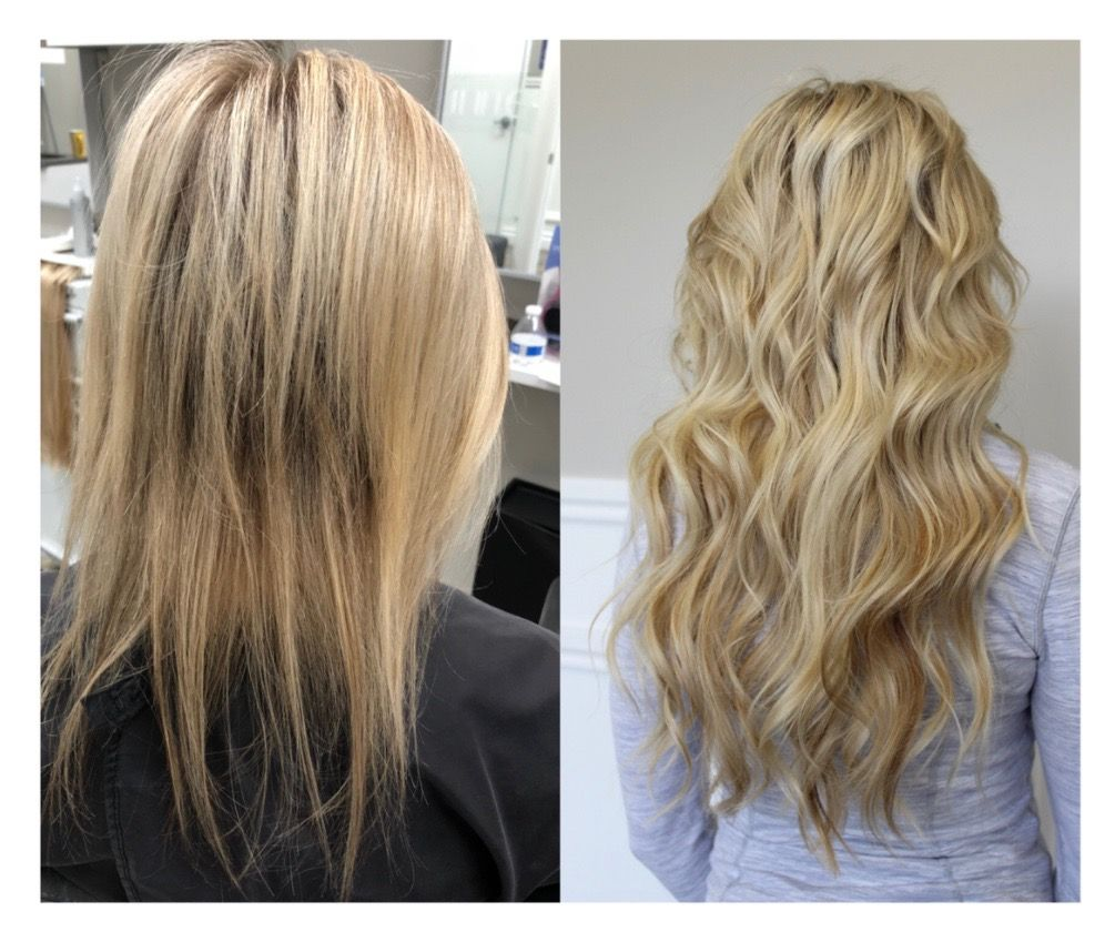 Natural Beaded Rows Extensions Before And After Hair Extensions