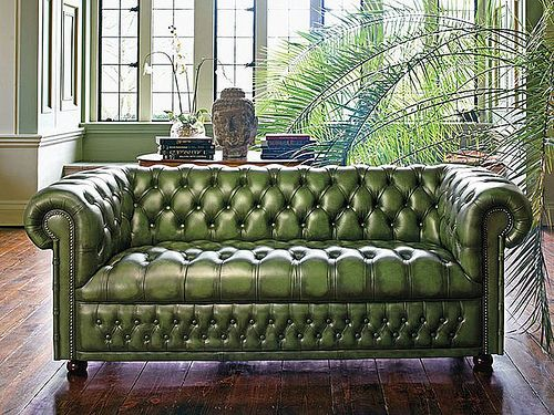 A little history on the Chesterfield green tufted sofa via andrew barnes lifestyle - Green Chesterfield sofa
