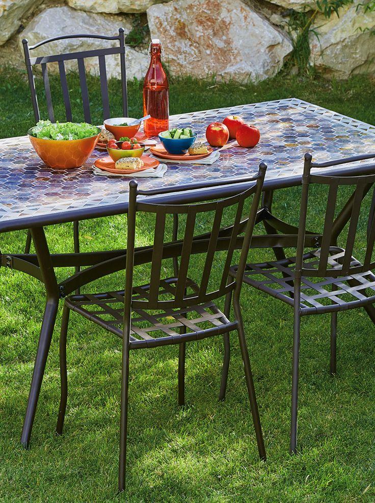 Table De Jardin En Ceramique Et Fer Fez Http Www Alinea Fr Fez