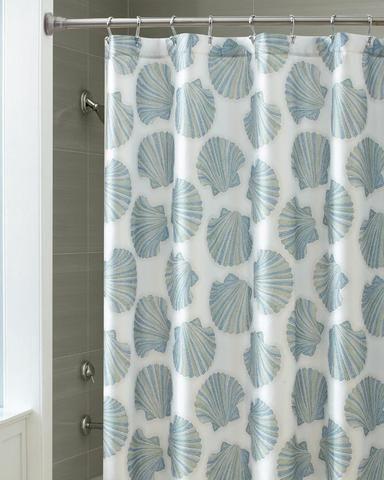 Mosaic Shells Shower Curtain By Croscill