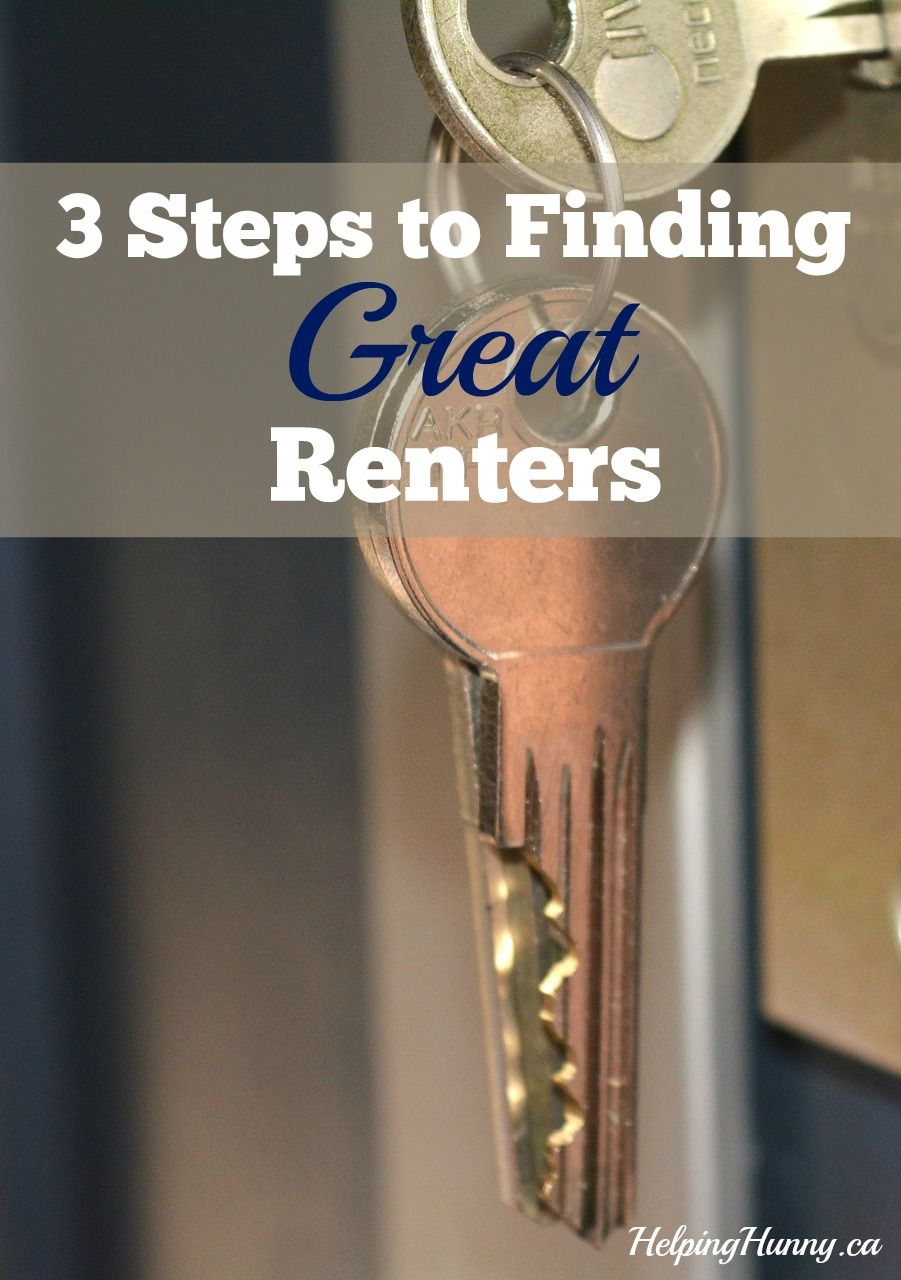 Nervous about having a rental because you've heard stories about horrible renters? Fear not with these tips and more at HelpingHunny.ca