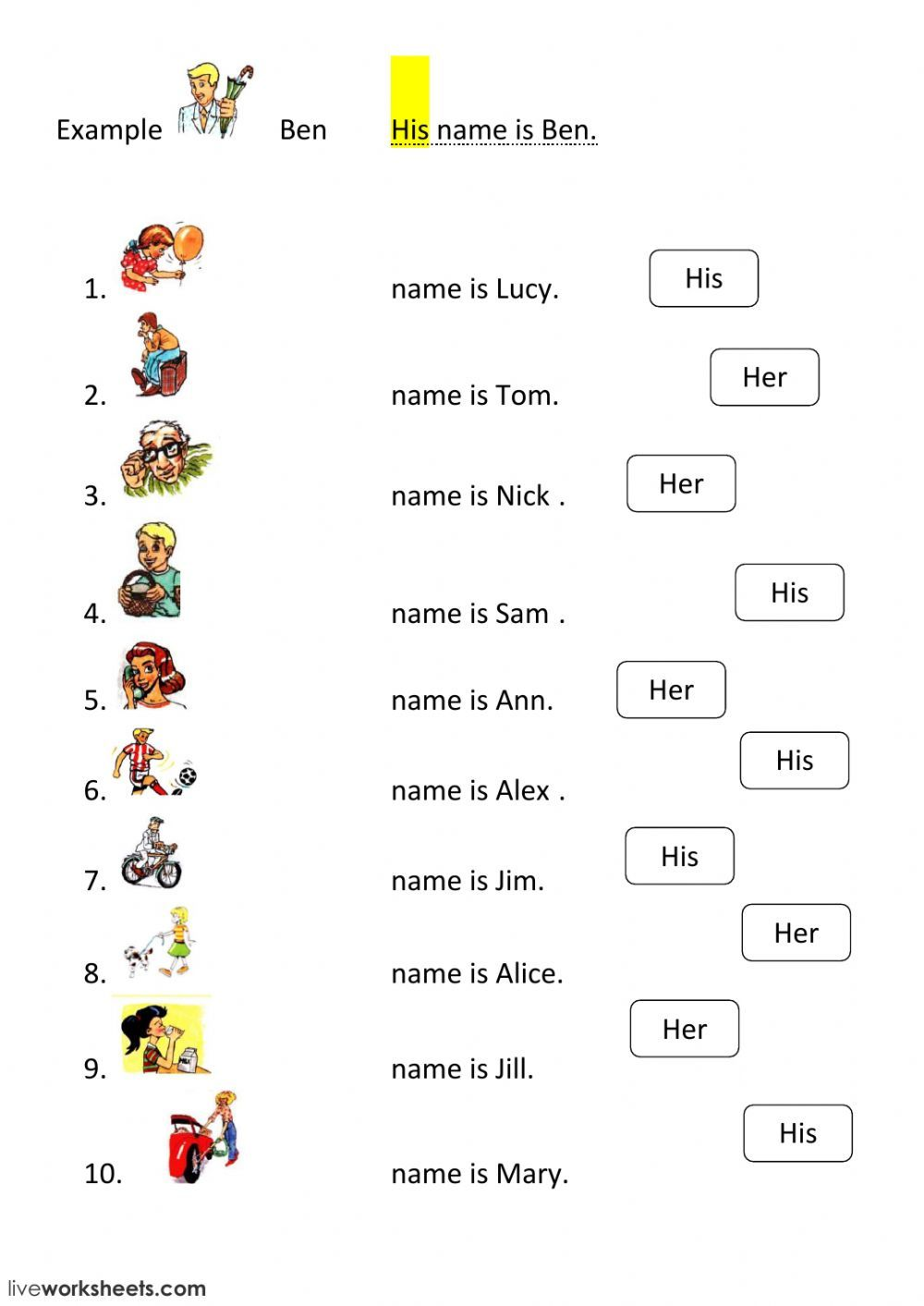 hight resolution of Possessive pronouns interactive and downloadable worksheet. You can do the  exercises on…   Pronoun worksheets