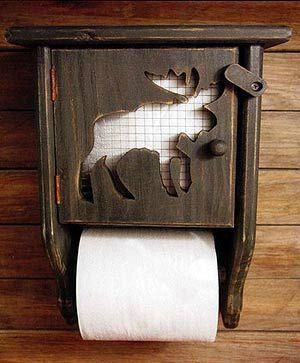 Moose Toilet Paper Holder Log Cabin Decor Moose Decor Rustic Bathroom Decor