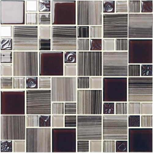 Lovely Glass Mosaic Tile sheets Kitchen Mosaic Glass Backsplash Bathroom Wall Tiles hand painted Crystal Mosaics Tile patterns HM3009 Inspirational - Review black mosaic tile Simple