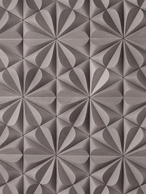 Triangle Brown Embossed Debased Texture Pattern X Gone
