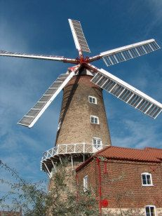 Maud Foster WindMill, Boston, Lincolnshire - with shop