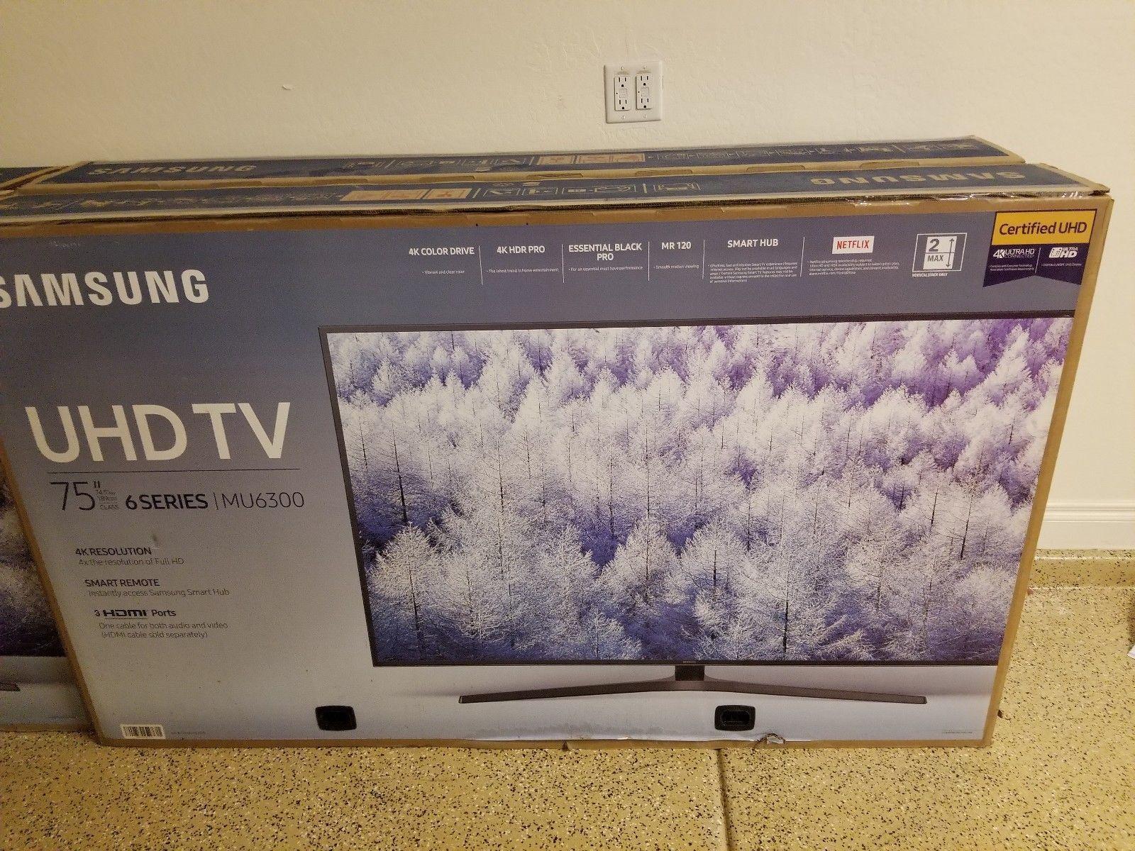 """US Deals TV BRAND NEW SAMSUNG 75"""" Class 4K 2160P Ultra HD"""