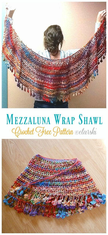Luna Lace Shawl Crochet Free Patterns - Crochet & Knitting