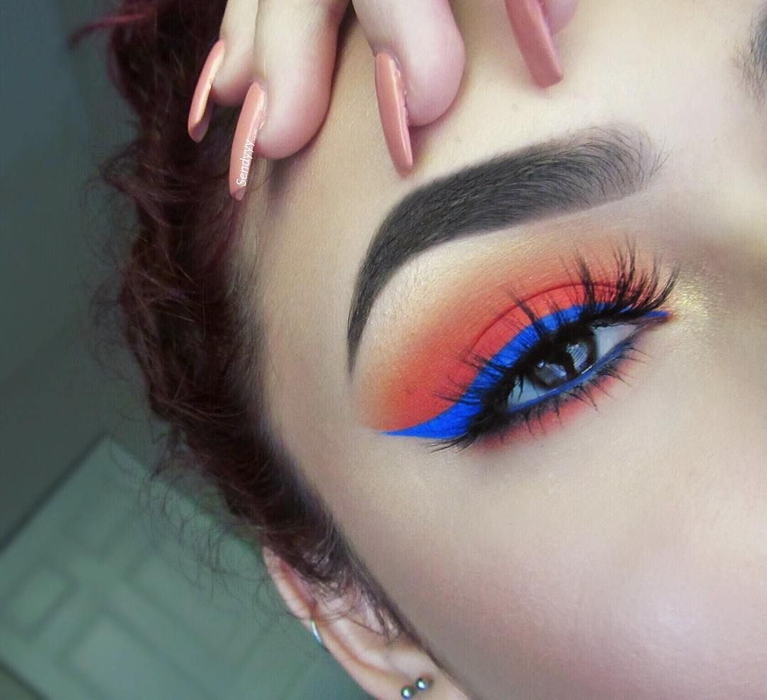 Our favorite kind of Monday blues @sendyyy__ created this gorg eye look with our Ultimate Shadow Palette in 'Brights' & our Vivid Brights Liner in 'Vivid Sapphire.' Shop 'em at our #nyxprofessionalmakeup stores! || #nyxcosmetics