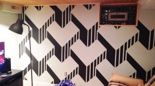 If You Have Tape And Paint, Then You Can Create This Awesome Design On A Wall In Your Home. Whoa!