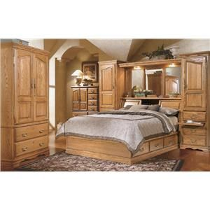 Furniture Traditions Master Piece Queen Pier Bed Group Mueller